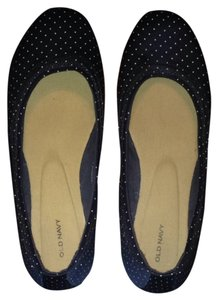 Old Navy dark blue with white polka dots Flats