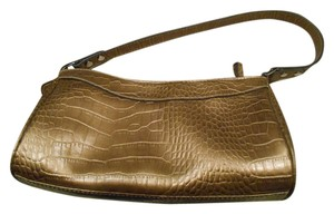 Liz Claiborne Villager Faux Alligator Tote Tote Handbag Evening Metallic Shoulder Bag