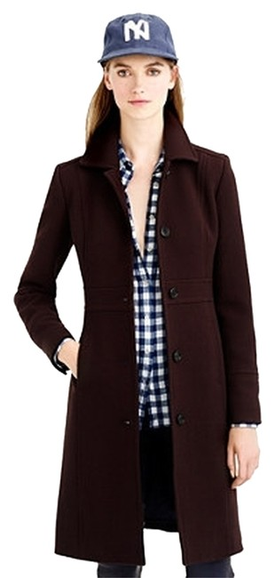 Preload https://item2.tradesy.com/images/jcrew-chocolate-double-cloth-lady-day-trench-coat-size-00-xxs-9639076-0-1.jpg?width=400&height=650