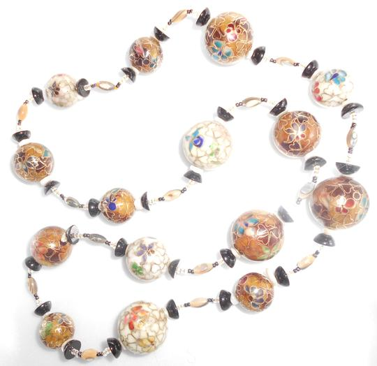 Other Long Enamel Bead necklace