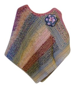 Colorful Crochet Handmade Cape
