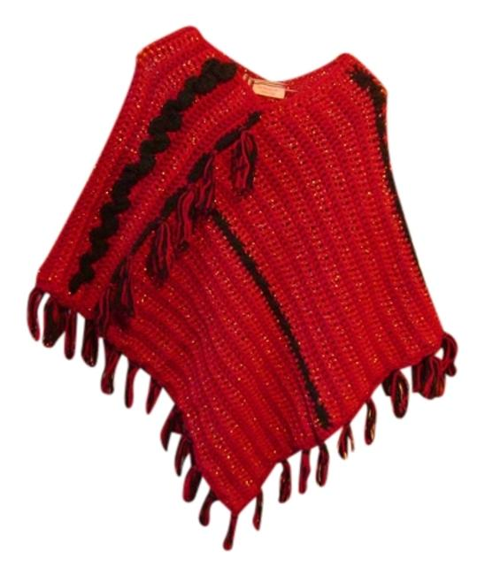 Preload https://item5.tradesy.com/images/black-and-burgundy-new-one-of-a-kind-ponchocape-size-os-one-size-9639244-0-1.jpg?width=400&height=650