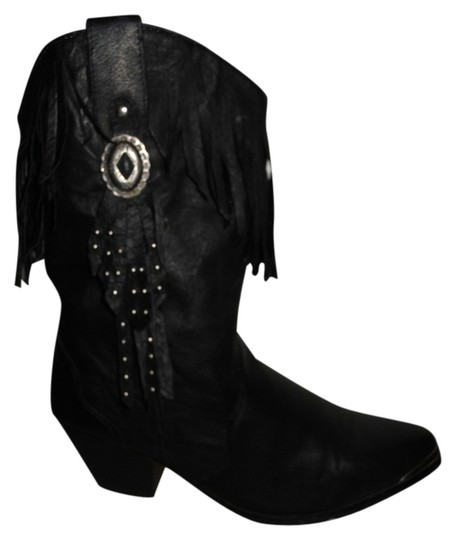 Preload https://item5.tradesy.com/images/dingo-black-fringed-leather-western-bootsbooties-size-us-9-regular-m-b-9639319-0-1.jpg?width=440&height=440