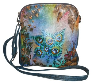 Biacci Leather Painted Cross Body Bag