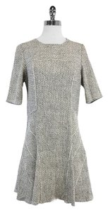 Derek Lam short dress Black White Speckled Flared Flared on Tradesy
