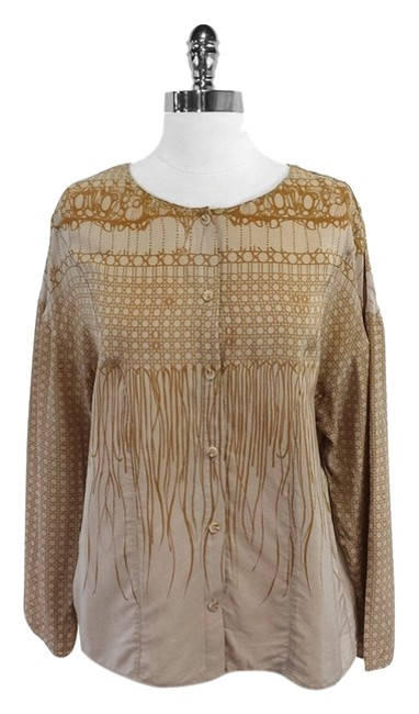 Preload https://item1.tradesy.com/images/vena-cava-tan-and-taupe-print-silk-blouse-size-4-s-9639610-0-1.jpg?width=400&height=650