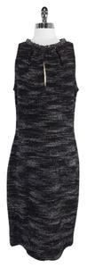 St. John short dress Black Silver Metallic on Tradesy