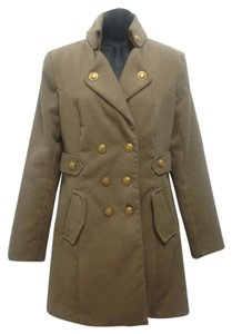 A. Byer Military Military Style Military Trenchcoat Trench Pea Coat