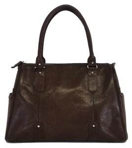 Lauren Merkin Brown Leather Shoulder Bag