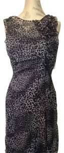 Moschino short dress Grey and Black Leopard Slip on Tradesy