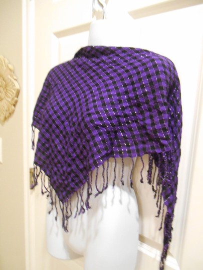Other Purple Gypsy Triangle Large Scarf with Fringe