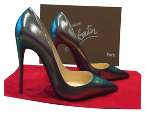 Christian Louboutin Iridescent Siver Pumps
