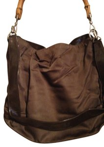 Gucci Vintage Patent Leather Tote in Taupe