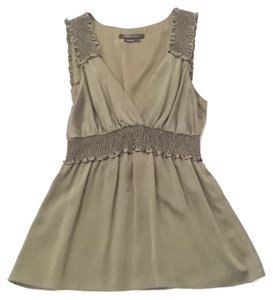 BCBGMAXAZRIA Top Olive Green