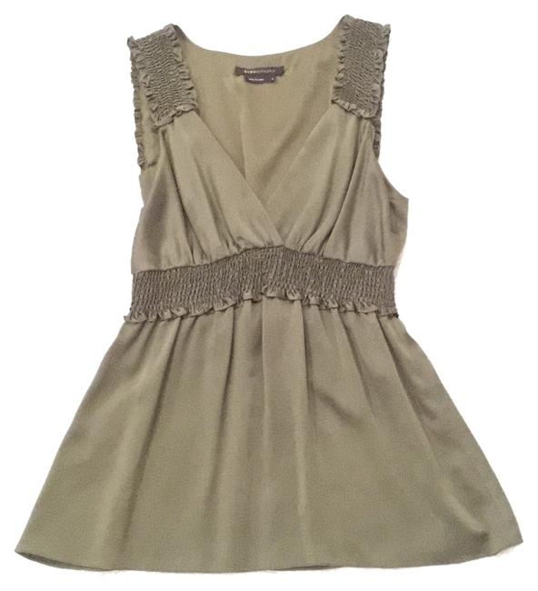Preload https://item5.tradesy.com/images/bcbgmaxazria-olive-green-v-neck-silk-night-out-top-size-6-s-9640819-0-1.jpg?width=400&height=650