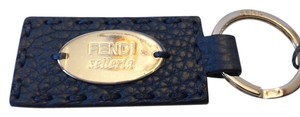 Fendi FENDI NWT SELLERIA PEACOCK LEATHER KEYCHAIN