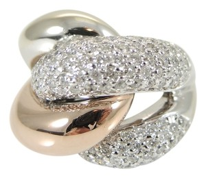 Other 14K White Gold Rose Gold 2.65tcw Custom Made Pave Diamond Knot Ring - Retail $5300