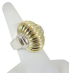 Lagos Lagos Sterling Silver 18K Yellow Gold Large Bold Gold Dome Ring - Retail $995