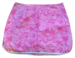 Lilly Pulitzer Designer Paisley Mini Skirt Pink white