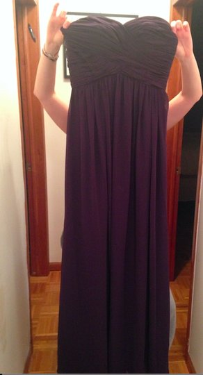Bill Levkoff Plum Chiffon 778 Formal Bridesmaid/Mob Dress Size 6 (S)