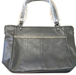 Jewell Tote in City Charcoal Snake With Metallic
