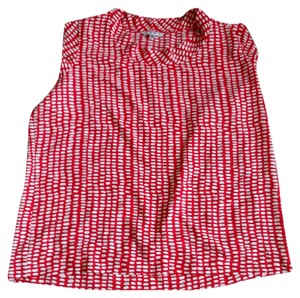 CAbi Madeline Spring 2015 Top Red and white
