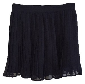 Central Park West Mini Skirt Navy Blue