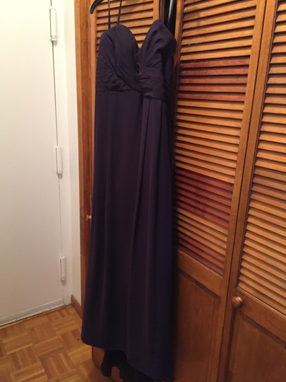 Bill Levkoff Plum Chiffon 430 Formal Bridesmaid/Mob Dress Size 14 (L)