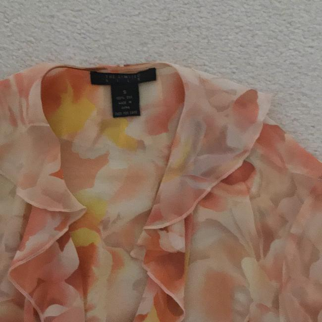 The Limited Top Peach, yellow, cream