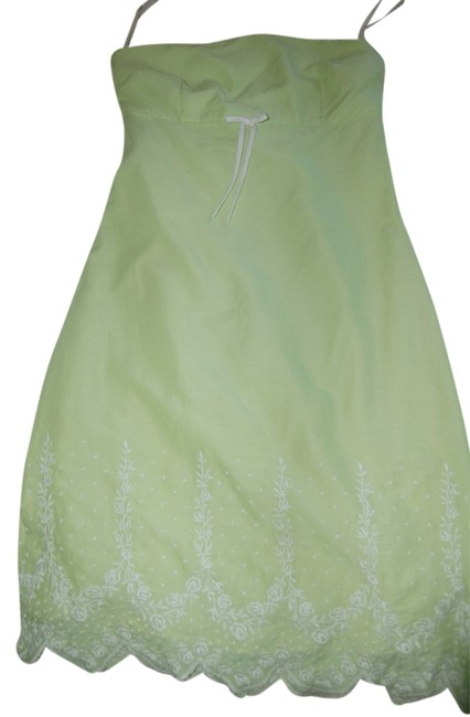 Preload https://img-static.tradesy.com/item/9642316/julie-brown-green-strapless-empire-waist-embroidered-above-knee-cocktail-dress-size-2-xs-0-1-650-650.jpg