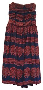 Anthropologie Strapless Bohemian Dress
