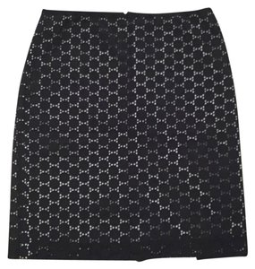 Ann Taylor LOFT Skirt Navy and white