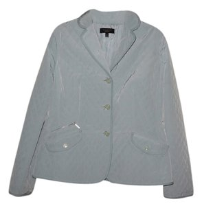 Talbots Polyester Quilted Classic Mint Green/Blue Jacket