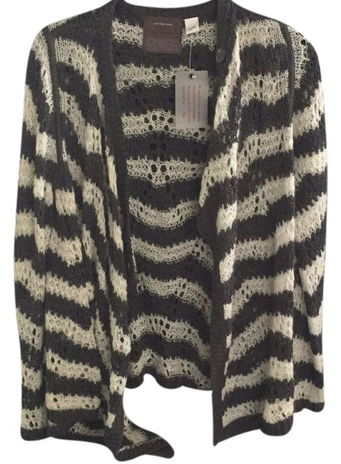 Preload https://item5.tradesy.com/images/anthropologie-gray-and-ivory-stripes-sweaterpullover-size-12-l-9642769-0-1.jpg?width=400&height=650