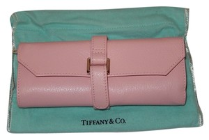 Tiffany & Co. NEW Tiffany & Co Pink Pebbled Leather Travel Jewelry Roll