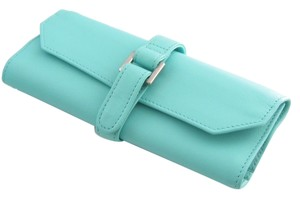 Tiffany & Co. NEW Tiffany & Co Blue Leather Travel Jewelry Roll