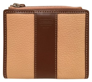 Coach Coach BiFold Wallet in Tan and Cognac Leather