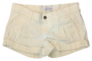 Abercrombie & Fitch Cuffed Shorts Yellow