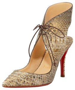 Christian Louboutin Python Gold with Metallic Sheen Pumps