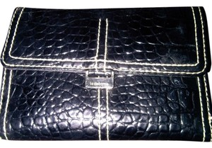 Liz Claiborne Liz Claiborne Timeless Classic Wallet. New Display Item. 6in x4 in. Black Patent croc leather style
