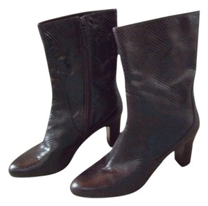 Cole Haan Leather Ankle Chocolate Brown Boots