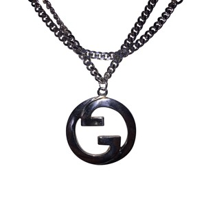 Gucci silver necklace tradesy gucci gucci necklace aloadofball Choice Image