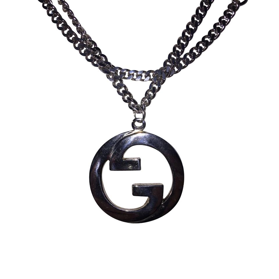 Gucci silver necklace tradesy gucci gucci necklace mozeypictures Gallery
