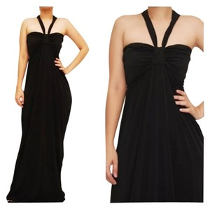 Black Maxi Dress by Other Holiday Party Dance Gala Formal Flowy Halter