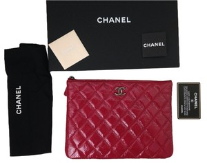 Chanel Red ( pinkish) Clutch