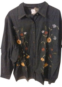 Avon Fashions Button Down Shirt denim