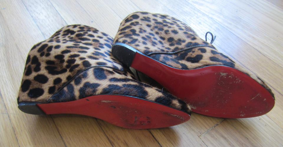 shoes with spikes for men - Artesur ? christian louboutin wedge booties Brown and tan ponyhair ...