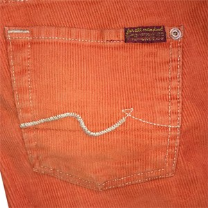 7 For All Mankind Flare Pants Orange