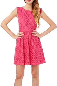 Kensie short dress ELECTRIC PINK Garden Party Pink Daisy Graduation on Tradesy