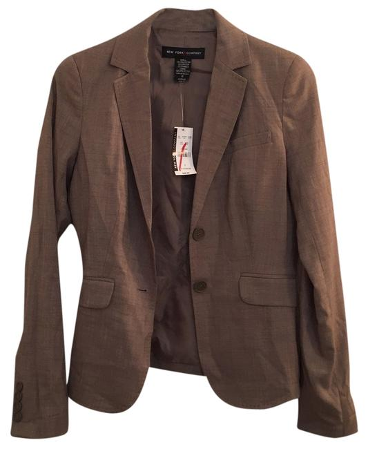 Preload https://item5.tradesy.com/images/new-york-and-company-tanbrown-blazer-size-0-xs-9645244-0-1.jpg?width=400&height=650